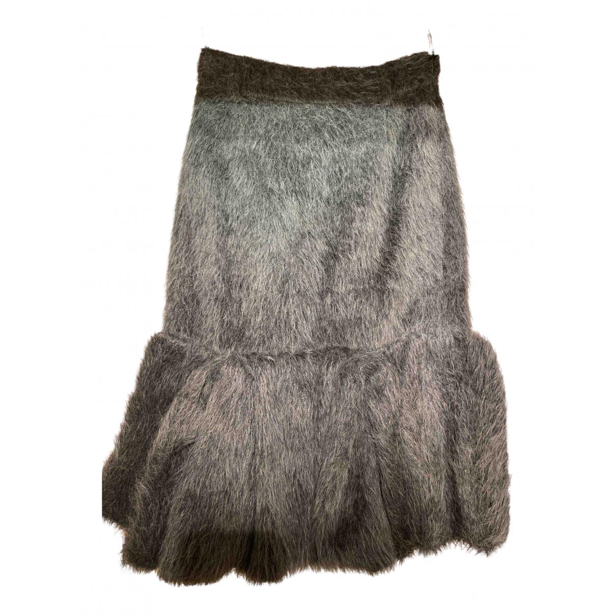 Prada N Grey Fur skirt for Women 38 IT