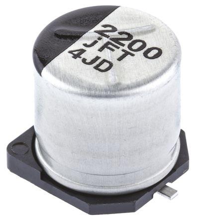 Panasonic 2200μF Electrolytic Capacitor 6.3V dc, Surface Mount - EEEFT0J222AP (5)