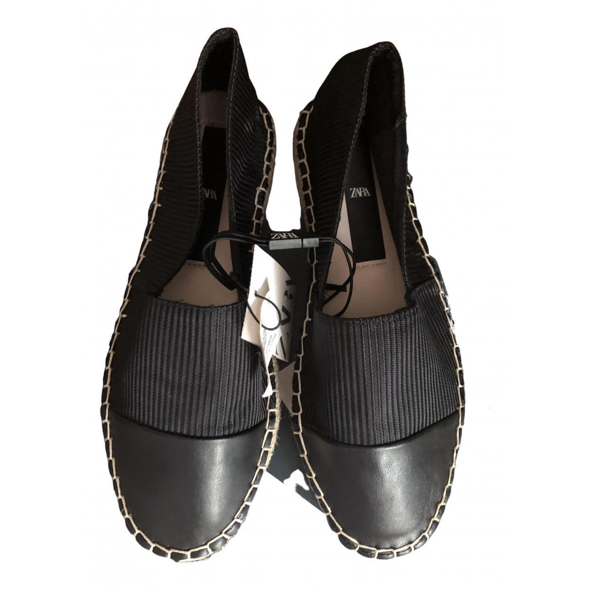 Zara - Espadrilles   pour femme en toile - noir