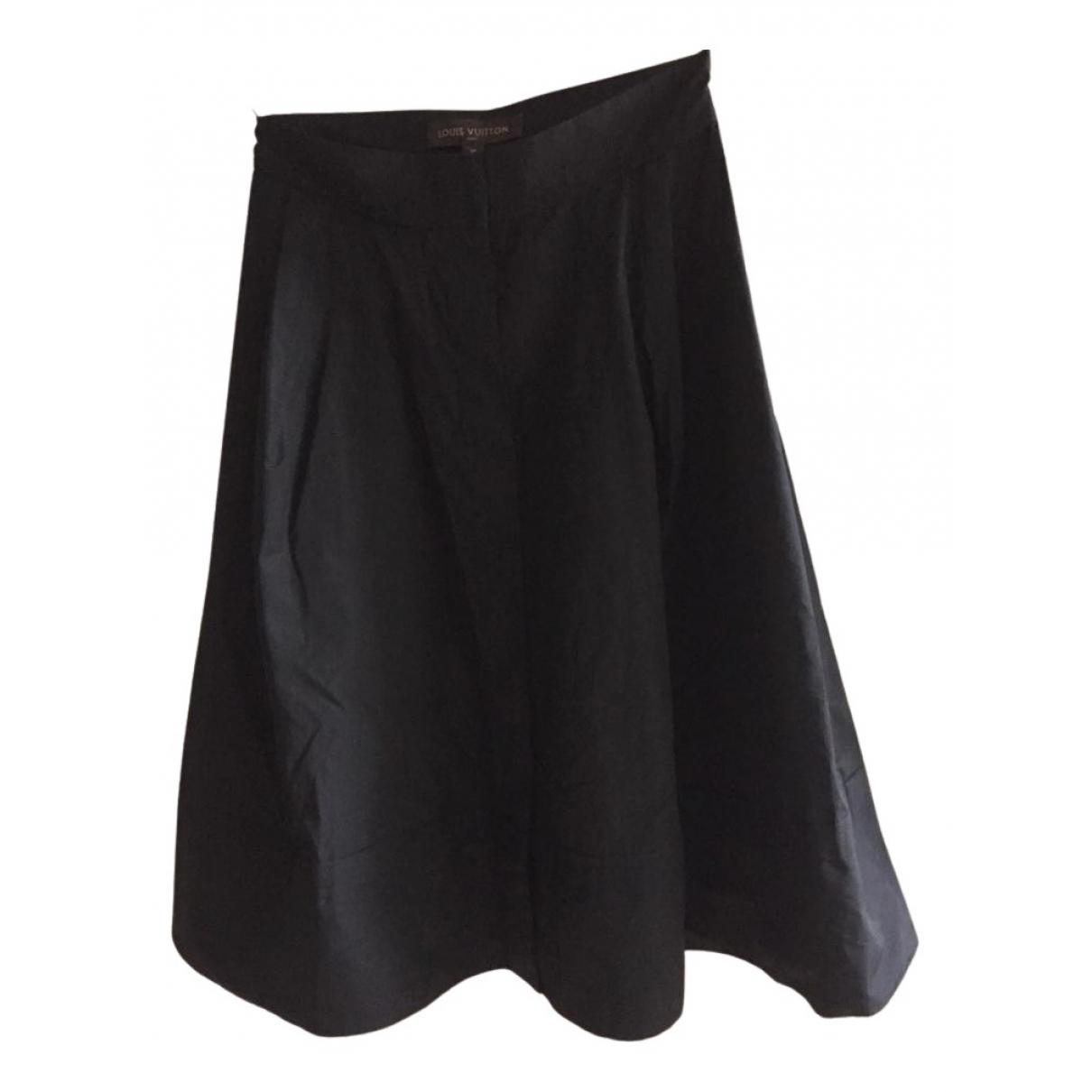 Louis Vuitton N Black Cotton skirt for Women 38 FR