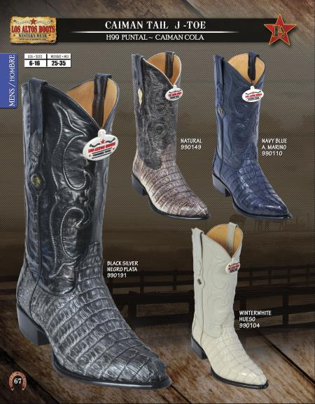 JToe Genuine Caiman TaMens Western Cowboy Boots Diff. Colors/Sizes