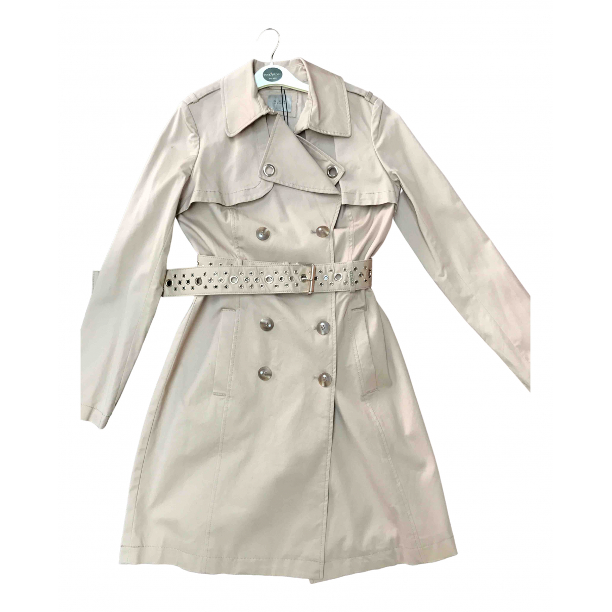 Guess \N Trench in  Beige Baumwolle