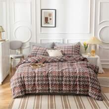 Houndstooth Print Bedding Set Without Filler