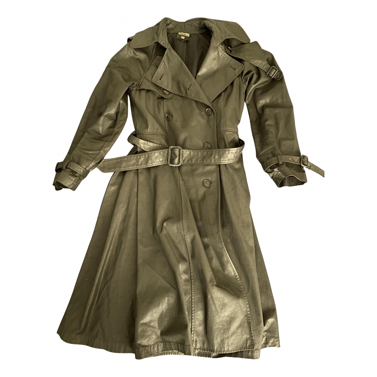Jean Paul Gaultier \N Trench in  Khaki Baumwolle