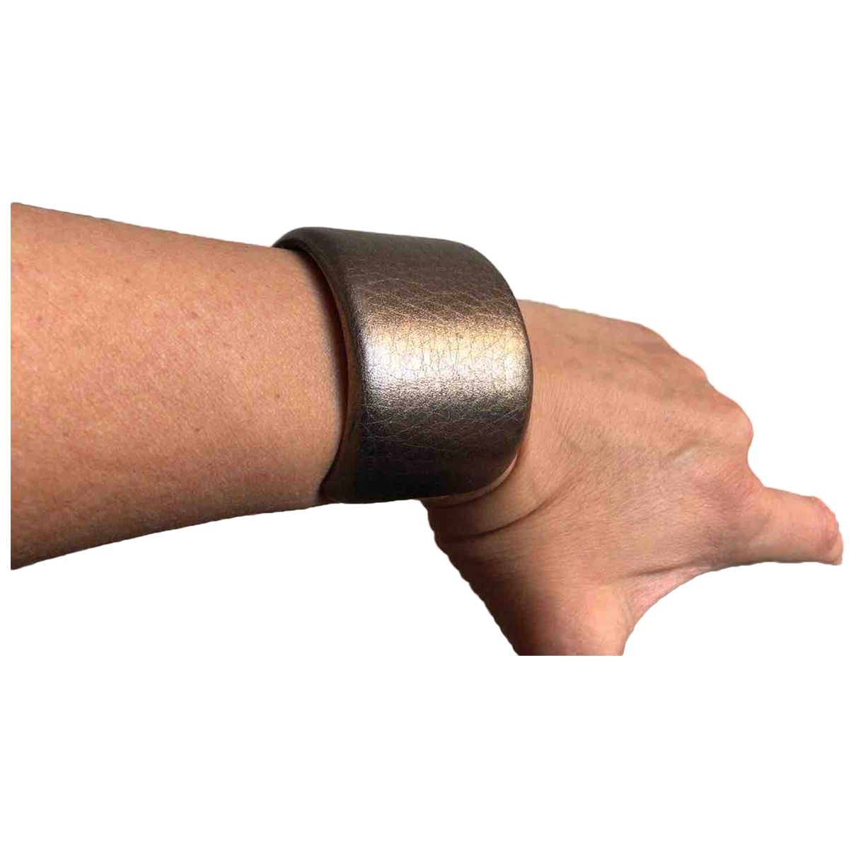 Brunello Cucinelli \N Armband in  Metallic Leder
