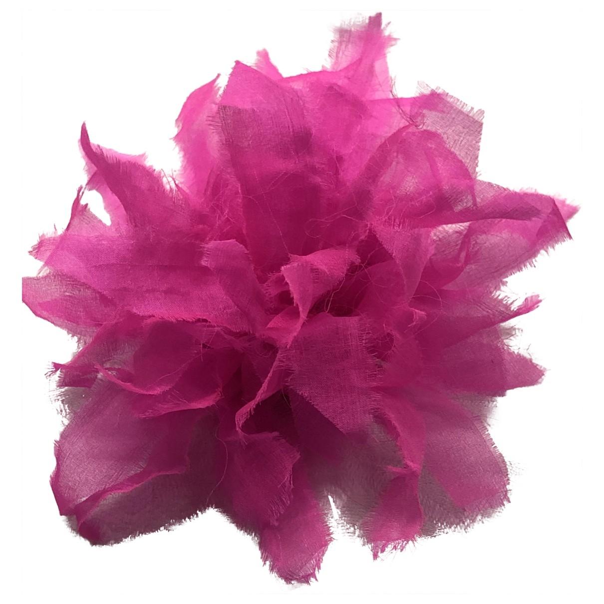 - Broche   pour femme en soie - rose