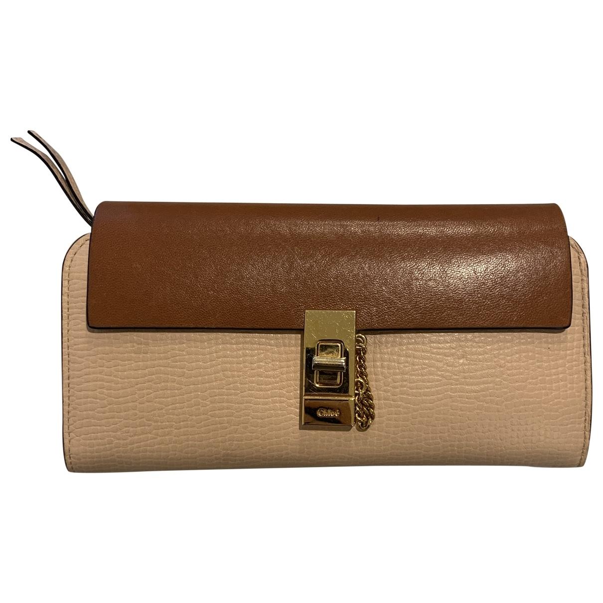 Chloé Drew Brown Leather wallet for Women \N