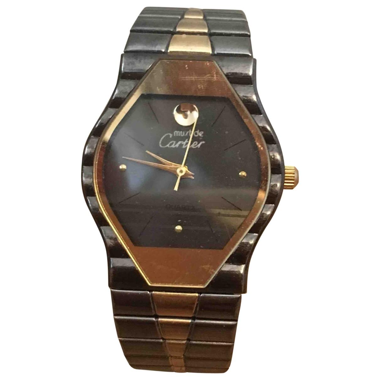 Cartier \N Uhr in  Metallic Vermeil