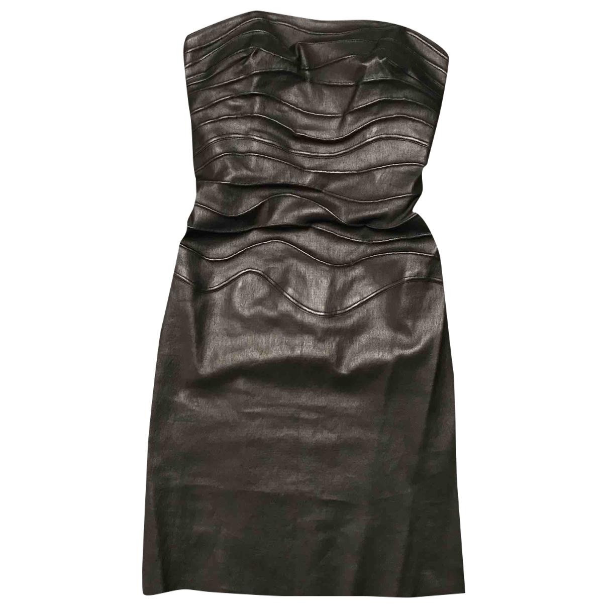 Jitrois \N Kleid in  Schwarz Leder