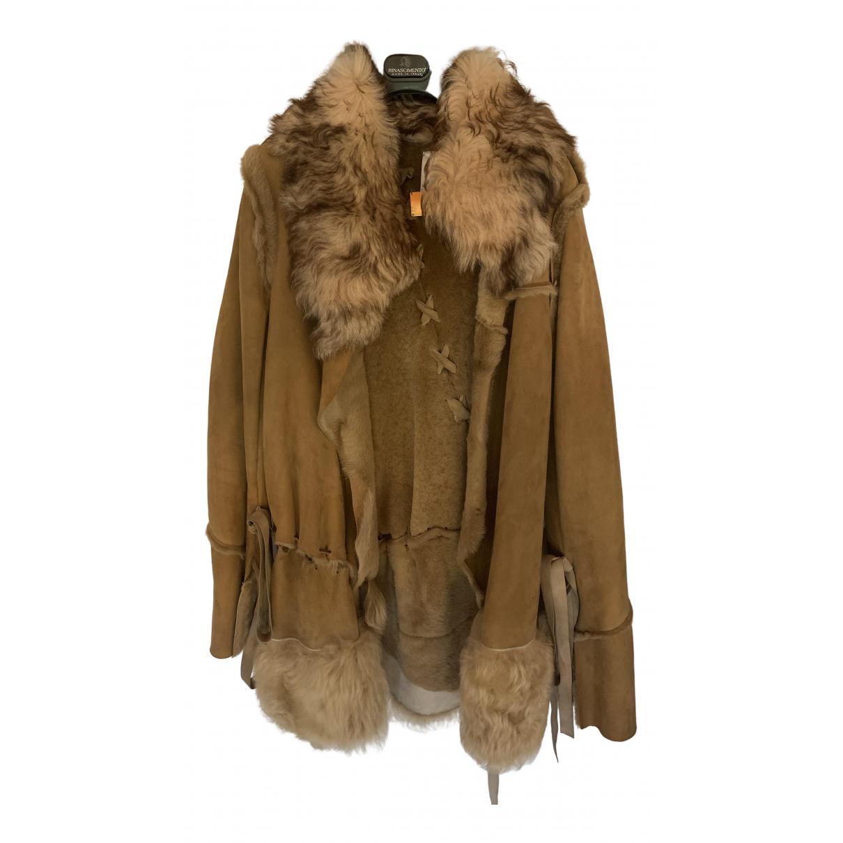 Dolce & Gabbana - Manteau   pour femme en mouton - camel