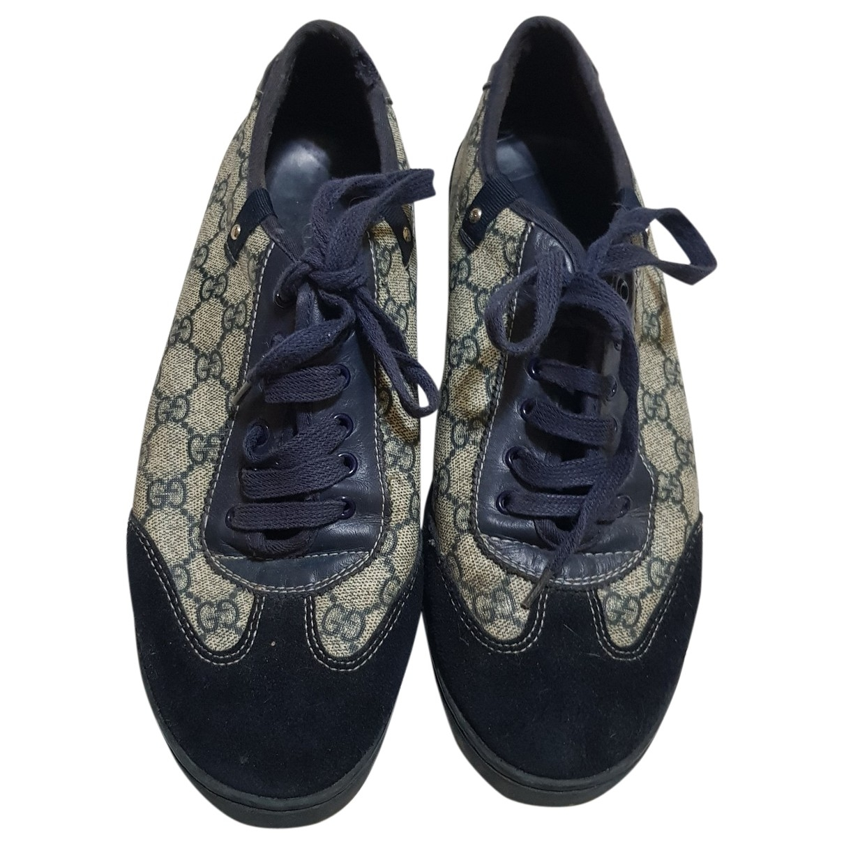 Gucci \N Navy Cloth Trainers for Men 44 EU