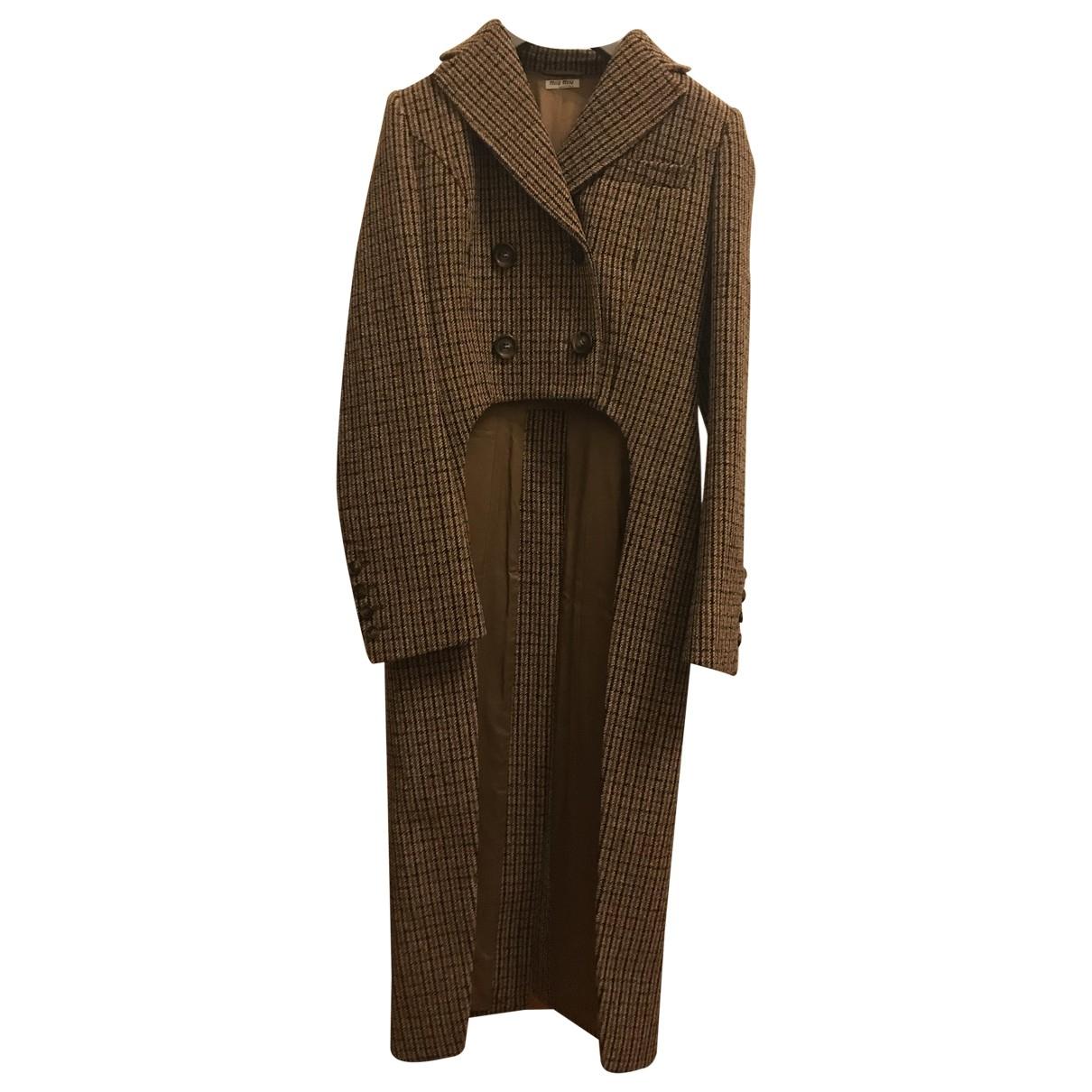 Miu Miu \N Wool coat for Women 38 IT