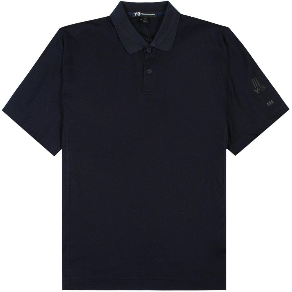 Y-3 Arm Logo Polo Shirt Navy Colour: NAVY, Size: SMALL