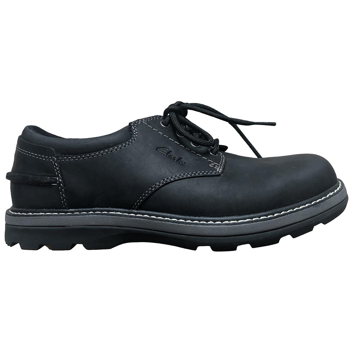 Clarks \N Schnuerschuhe in  Schwarz Leder