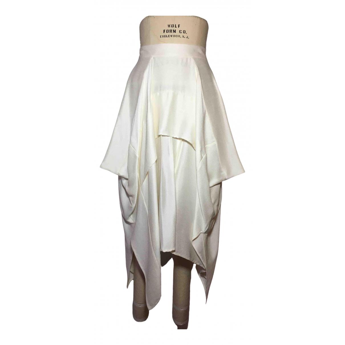 Barbara Casasola \N White Silk skirt for Women 40 FR