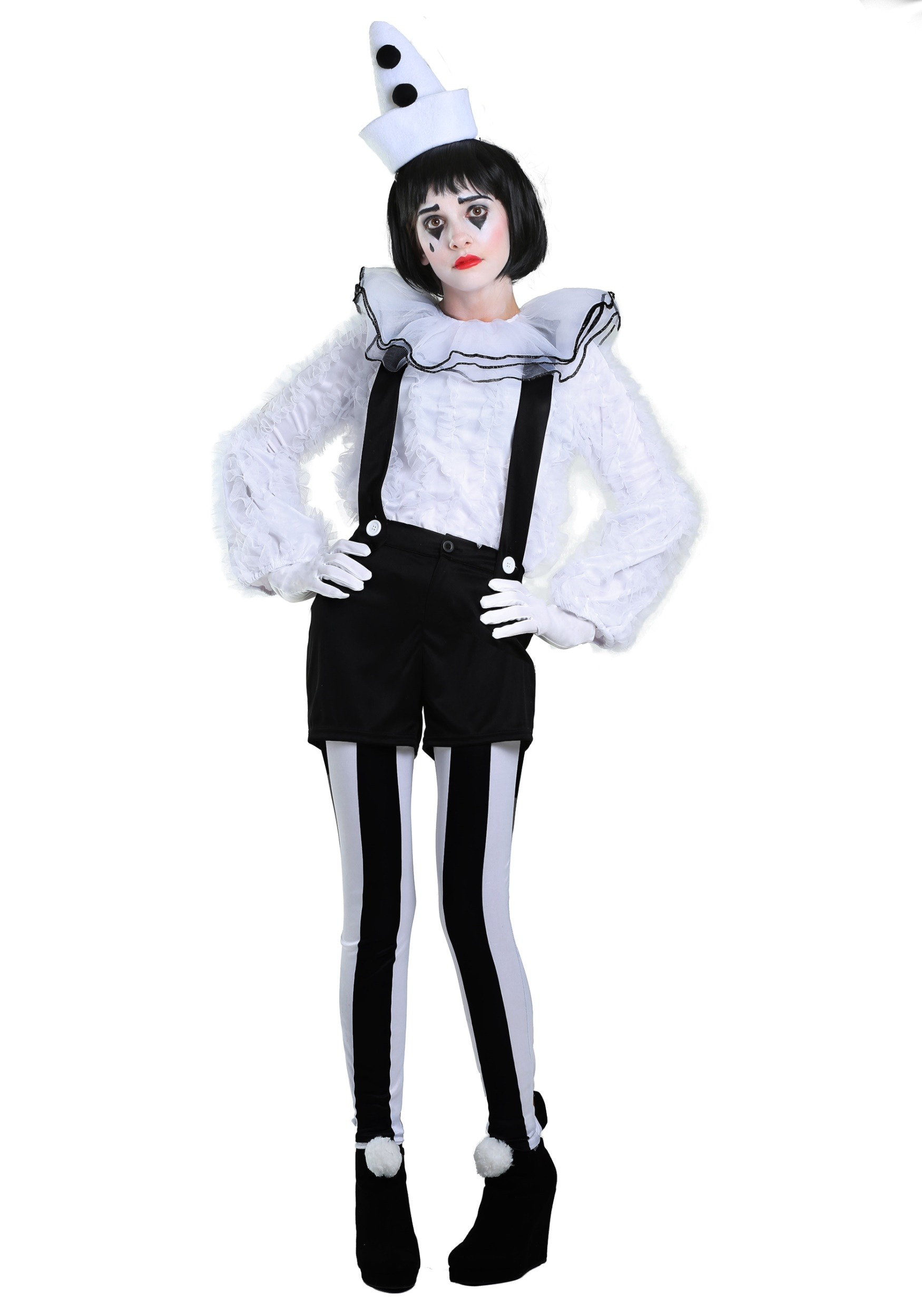 Vintage Pierrot Clown Costume for Women