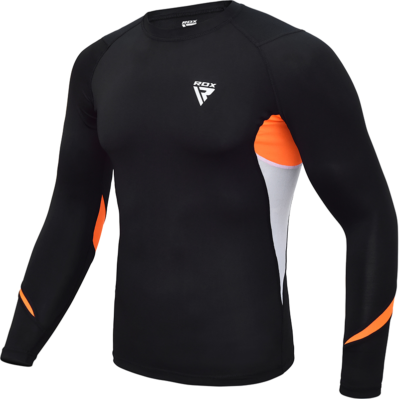 RDX L3 Compression Rashguard X Petite Orange Neoprene
