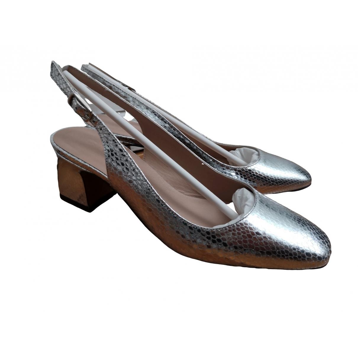 Carel - Sandales   pour femme en cuir - argente