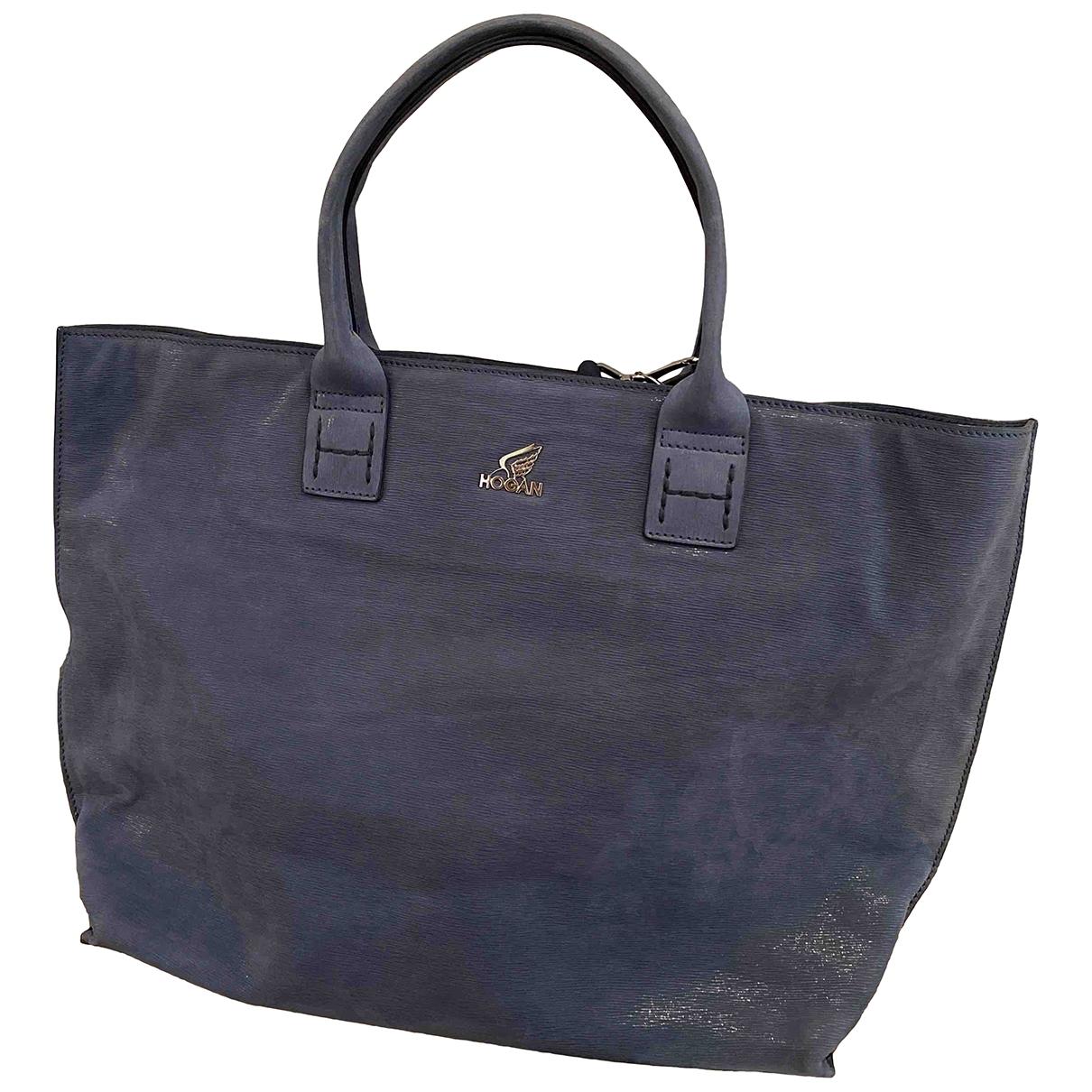 Hogan \N Handtasche in  Blau Veloursleder