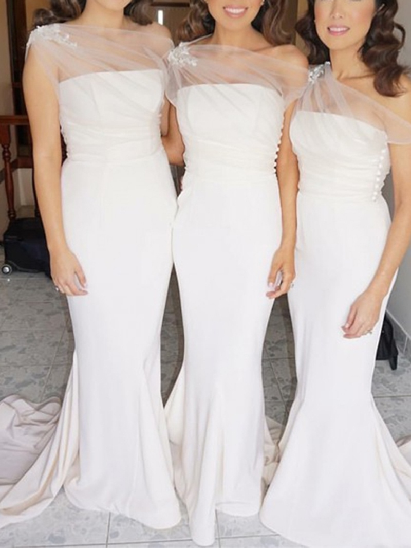 Ericdress Sleeveless Floor-Length Bridesmaid Dress