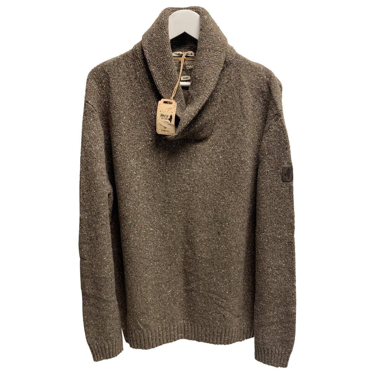 Autre Marque \N Pullover.Westen.Sweatshirts  in  Braun Wolle