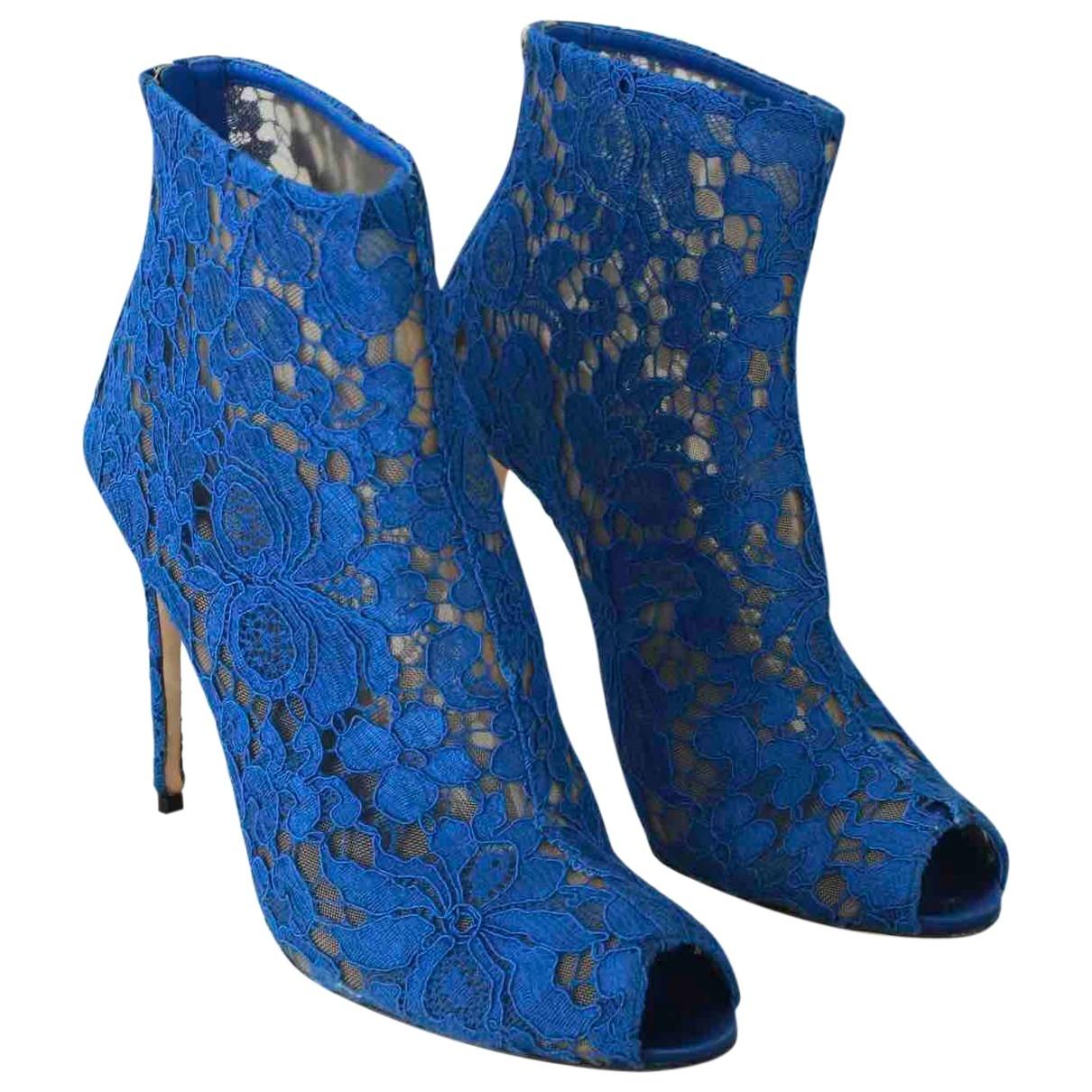 Dolce & Gabbana - Boots   pour femme en toile - bleu