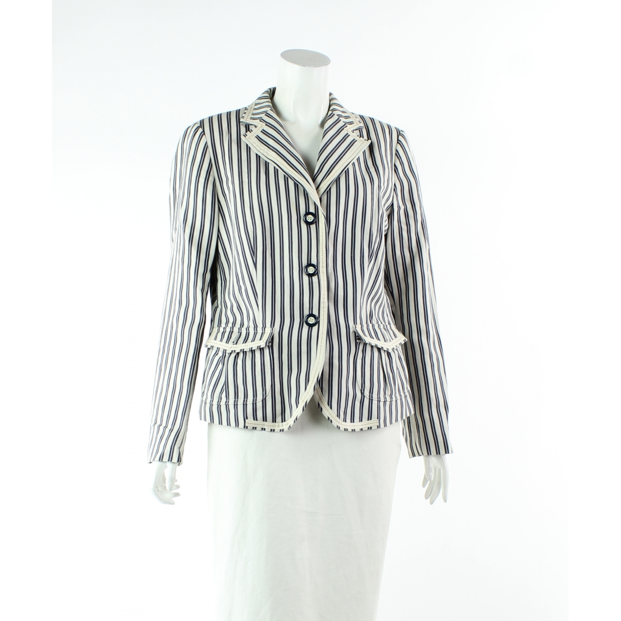 Max Mara \N White Linen jacket for Women 14 UK