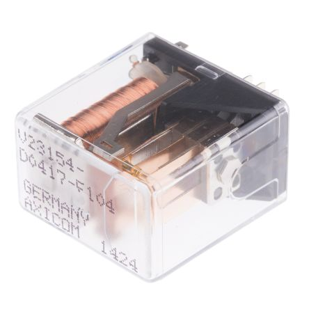 TE Connectivity , 12V dc Coil Non-Latching Relay DPDT, 5A Switching Current PCB Mount, 2 Pole
