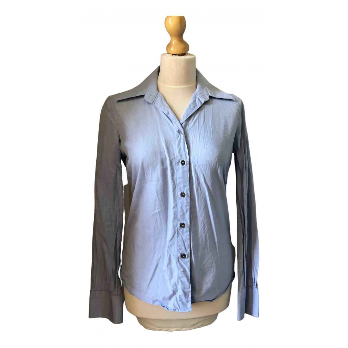 Costume National - Top   pour femme en coton - bleu