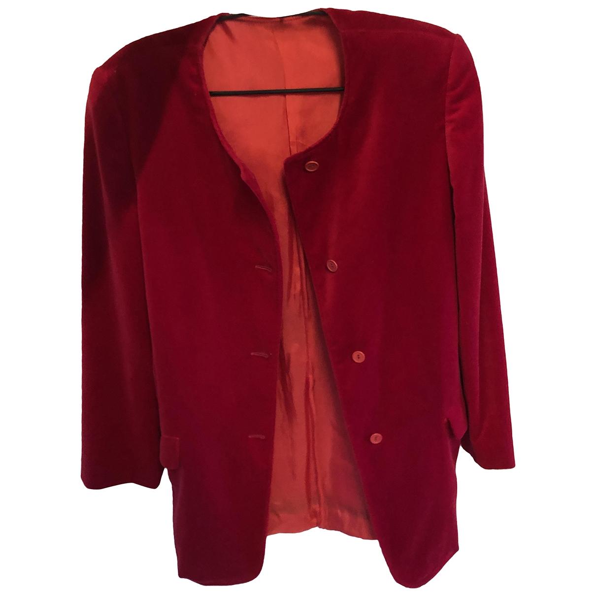 Max & Co \N Red Velvet jacket for Women 44 FR