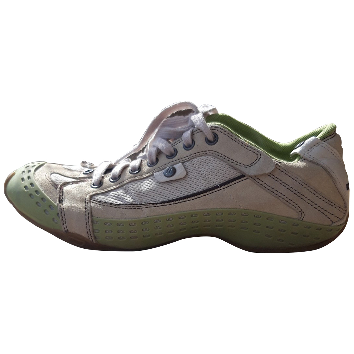 Diesel N Green Leather Trainers for Women 41 EU