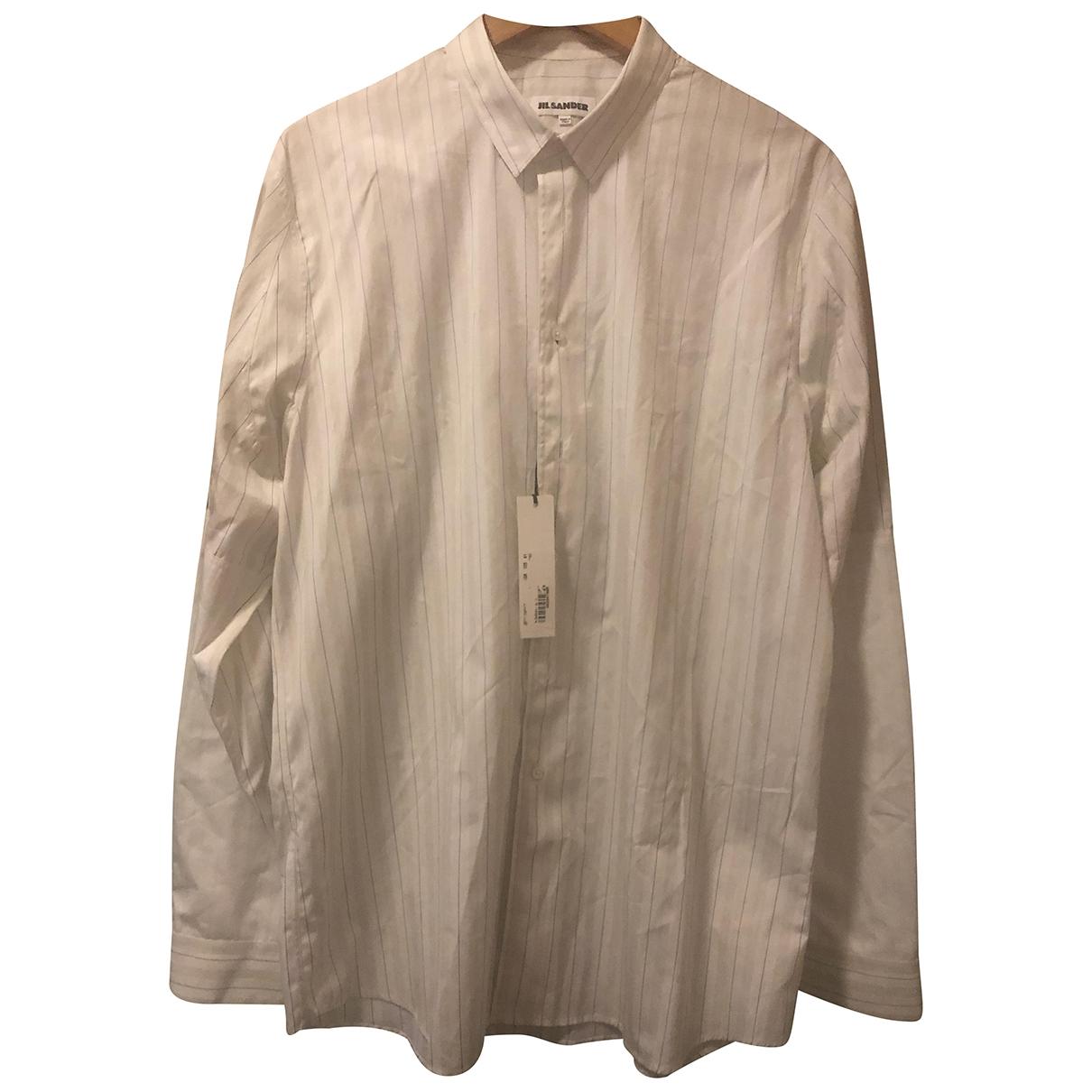 Jil Sander - Chemises   pour homme en coton - blanc