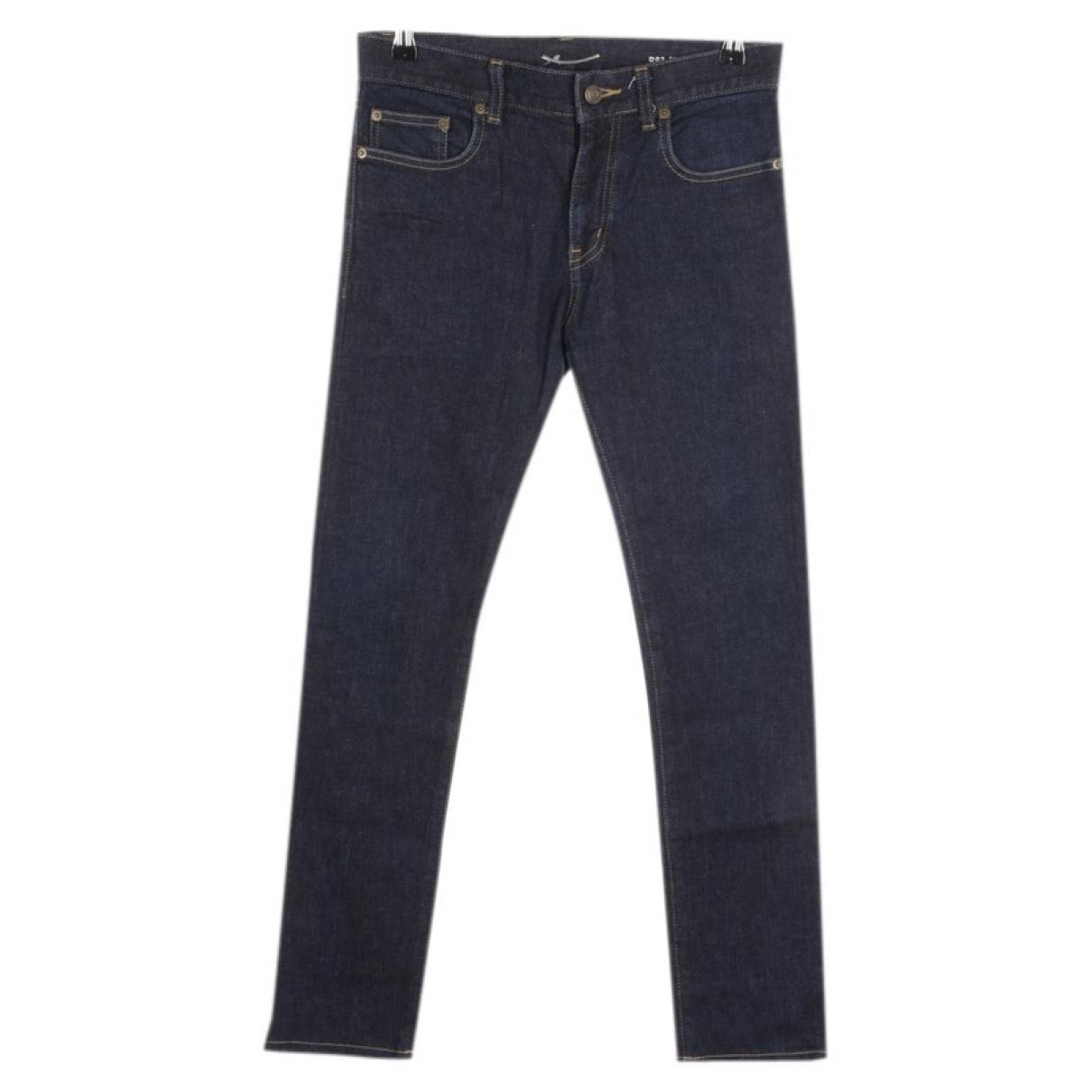 Saint Laurent \N Blue Cotton Jeans for Women 37 FR