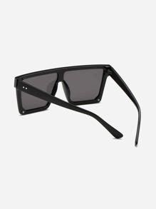Guys Plain Frame Flat Top Sunglasses