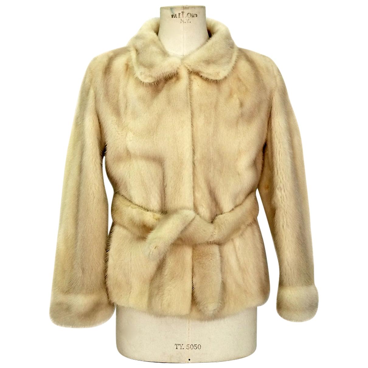- Veste   pour femme en vison - beige