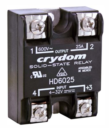 Sensata / Crydom 90 A rms Solid State Relay, Zero Crossing, Panel Mount, SCR, 530 V ac Maximum Load