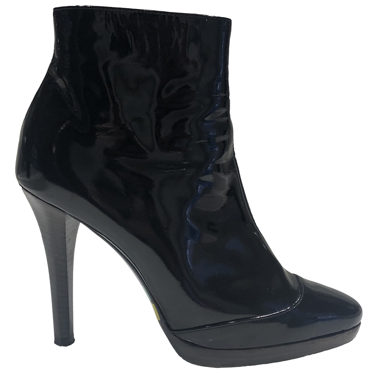 Emilio Pucci \N Black Patent leather Ankle boots for Women 38 IT