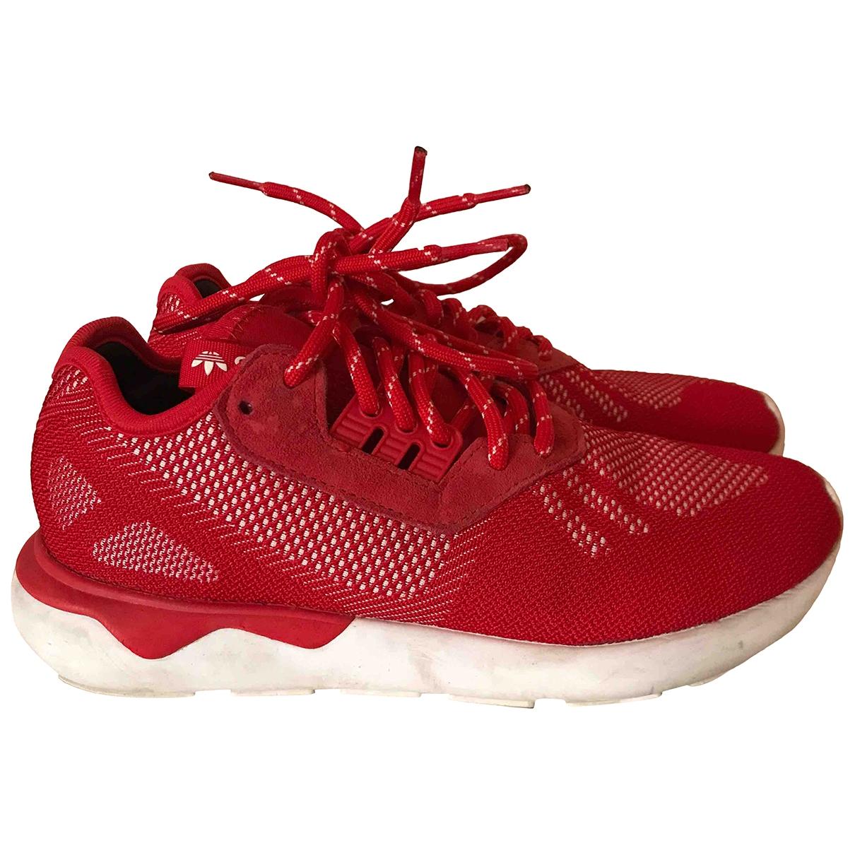 Adidas - Baskets Tubular pour femme en caoutchouc - rouge
