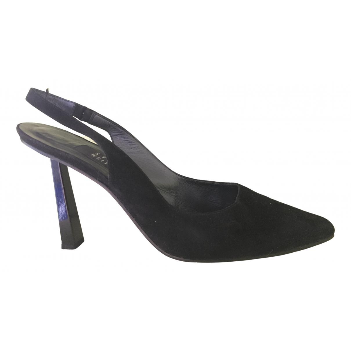 Stuart Weitzman \N Black Leather Heels for Women 10 US
