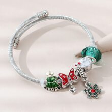 Weihnachten Armband mit Strass und Schneeflocken Dekor