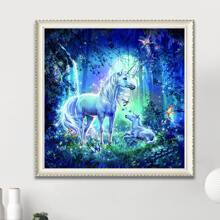 Unicorn Print Diamond Painting Without Frame