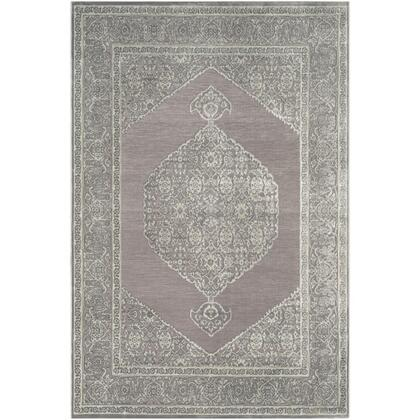 Aesop ASP-2317 9' x 12' Rectangle Traditional Rug in Medium Grey  Sea