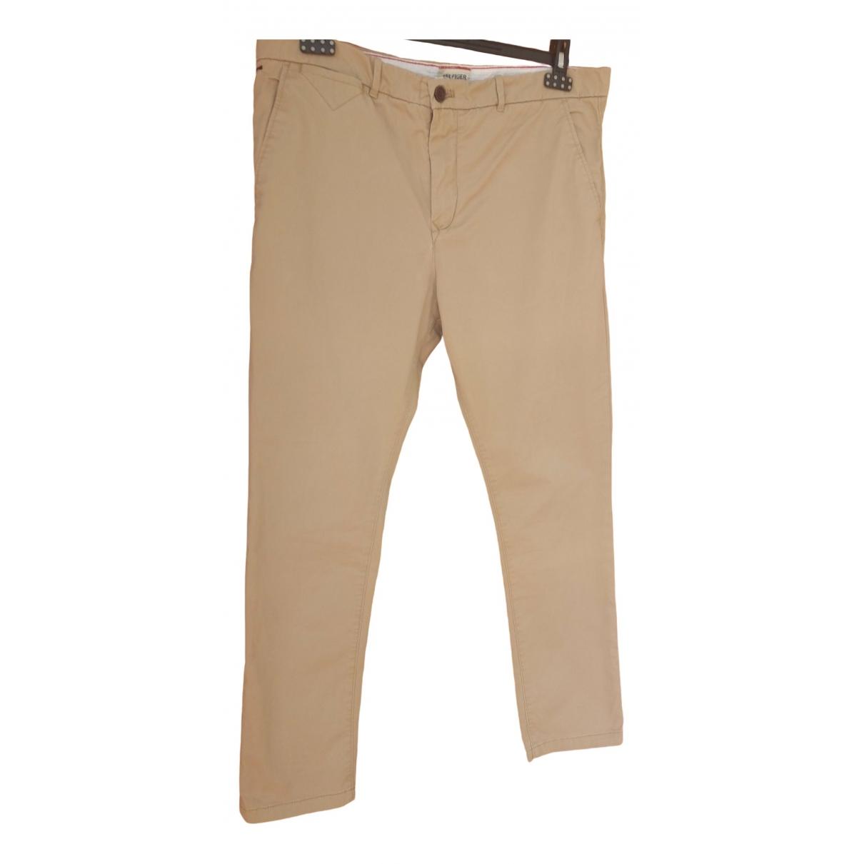 Tommy Hilfiger \N Beige Cotton Trousers for Men 36 UK - US