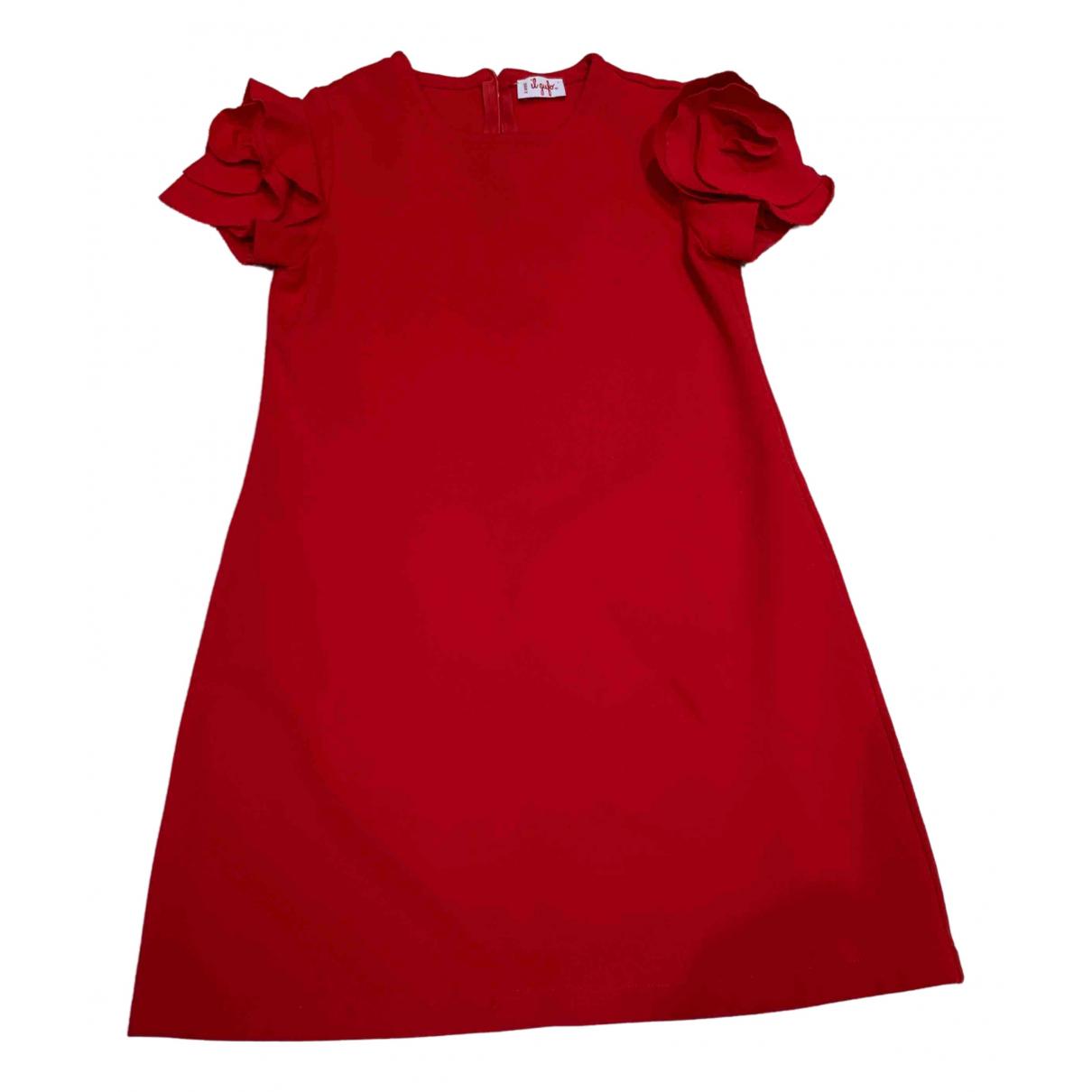 Il Gufo - Robe    pour enfant - rouge