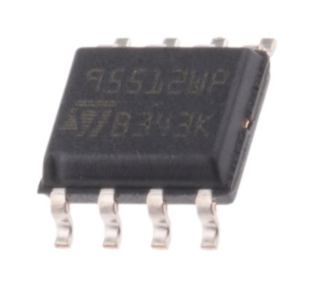 STMicroelectronics M95512-WMN6P, 512kbit Serial EEPROM Memory, 60ns 8-Pin SOIC SPI (5)