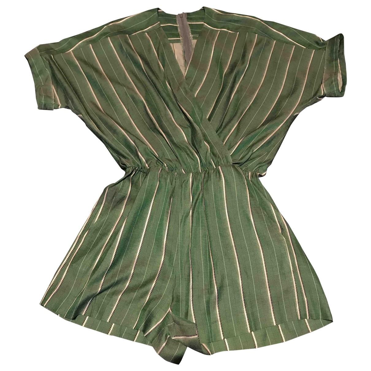 Maje - Combinaison   pour femme en coton - vert