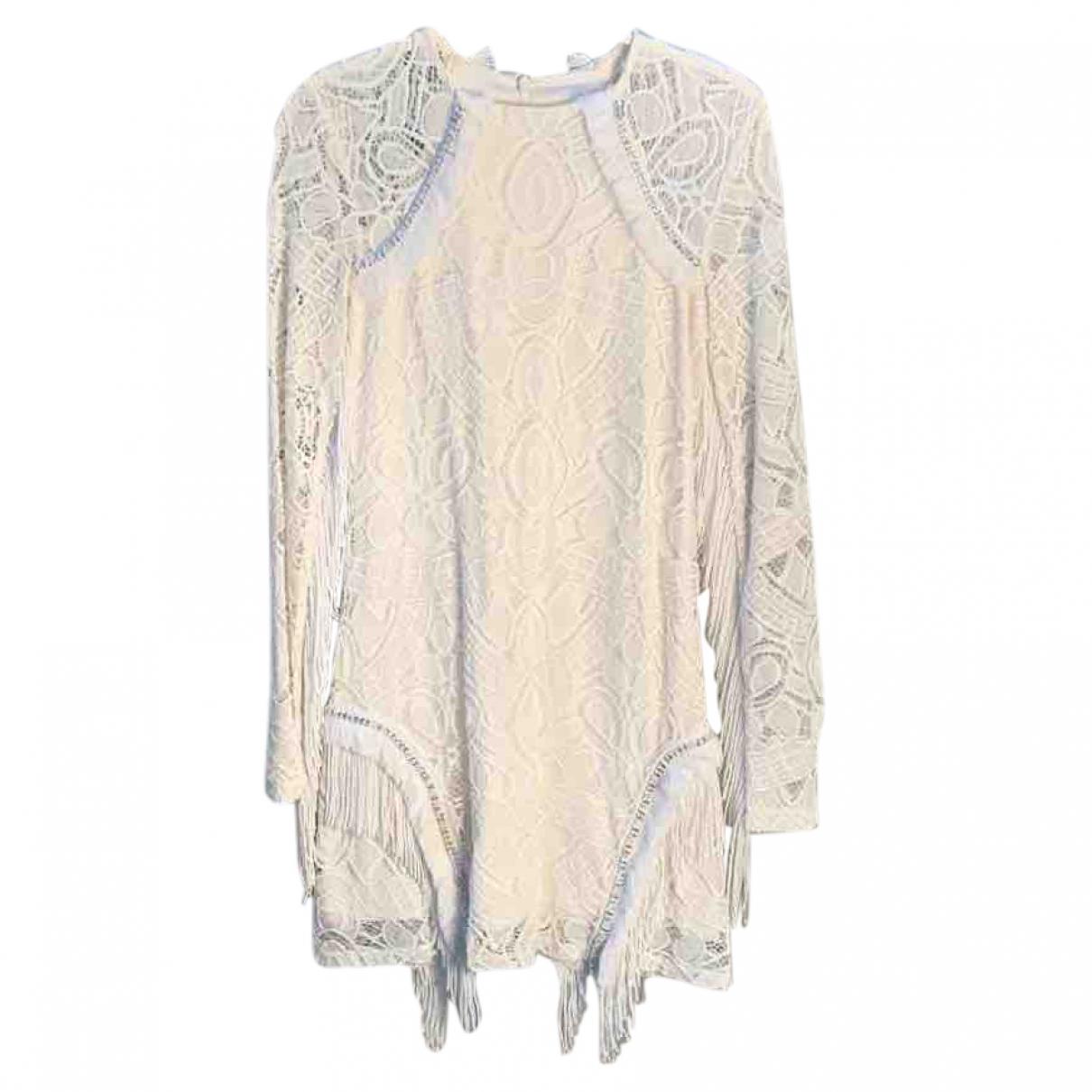 Alexis \N White Cotton - elasthane dress for Women 40 IT