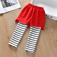 Toddler Girls Stripe 2 In 1 Pants