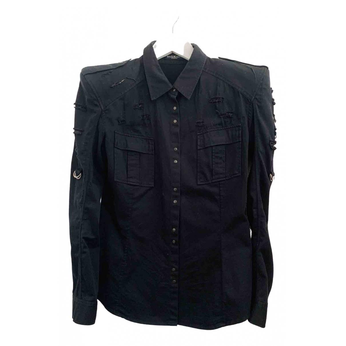 Balmain \N Black Cotton  top for Women 40 FR