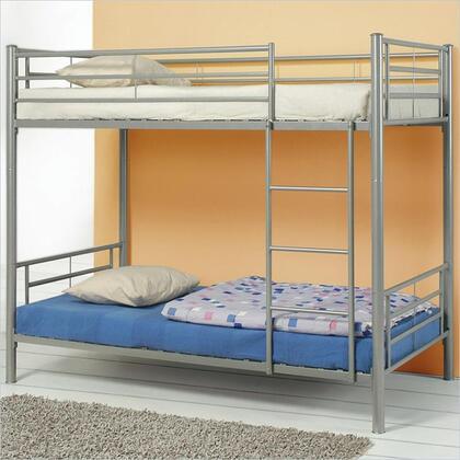 460072 Denley Metal Bunk Bed in Silver
